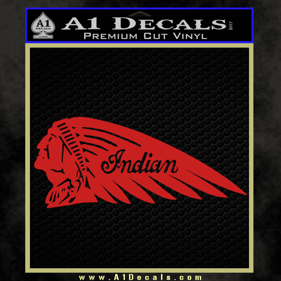 Indian Motorcycle Mirrored Decal Sticker 187 A1 Decals