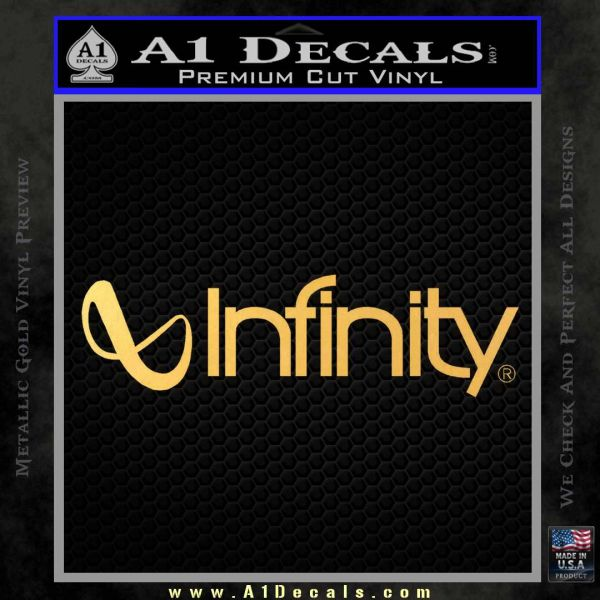 infinity audio decal sticker 187 a1 decals