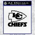 Kansas City Chiefs Stacked Decal Sticker Black Vinyl 120x120