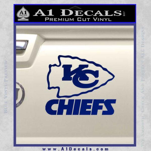 Kansas City Chiefs Decal Sticker A Decals - Custom vinyl decals kansas city