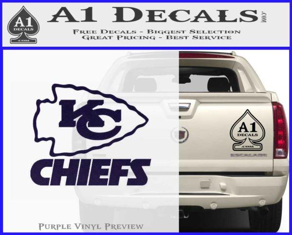 Kansas city chiefs stacked decal sticker purpleemblem logo 120x97