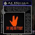 Live Long And Prosper Decal Sticker Orange Emblem 120x120