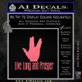 Live Long And Prosper Decal Sticker Pink Emblem 120x120