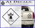 Lord of the Rings You Shall Not Pass Decal Sticker Carbon FIber Black Vinyl 120x97