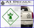 Lord of the Rings You Shall Not Pass Decal Sticker Green Vinyl Logo 120x97