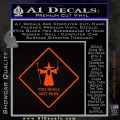 Lord of the Rings You Shall Not Pass Decal Sticker Orange Emblem 120x120
