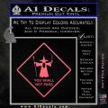 Lord of the Rings You Shall Not Pass Decal Sticker Pink Emblem 120x120
