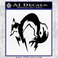 Metal Gear Solid Fox Logo Decal Sticker Black Vinyl 120x120