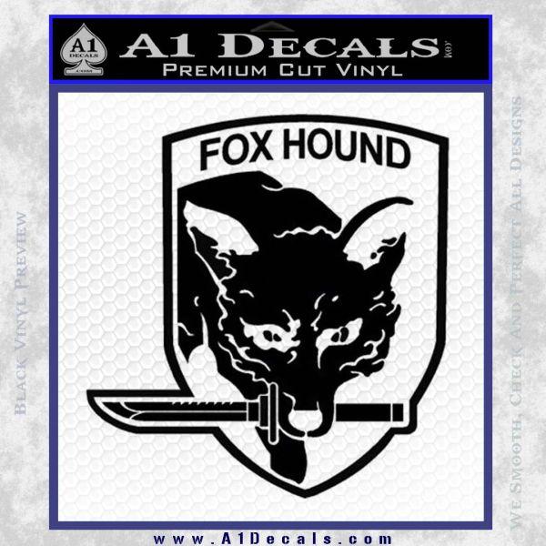Metal Gear Solid Foxhound Logo Decal Sticker Black Vinyl