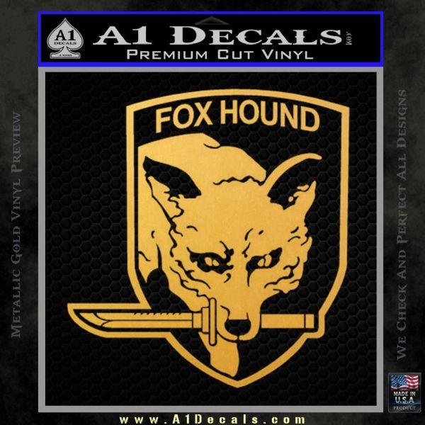 Metal Gear Solid Foxhound Logo Decal Sticker Gold Vinyl 120x120