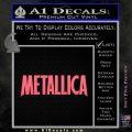 Metallica Thick Decal Sticker Pink Emblem 120x120
