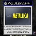Metallica Thick Decal Sticker Yellow Laptop 120x120