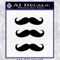 Mustache Decal Sticker Black Vinyl 120x120