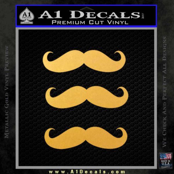 Mustache Decal Sticker » A1 Decals