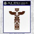 Native American Totem Pole D1 Decal Sticker BROWN Vinyl 120x120