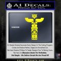 Native American Totem Pole D1 Decal Sticker Yellow Laptop 120x120