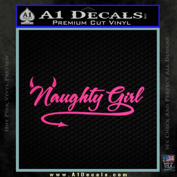 Naughty Girl Decal Sticker 187 A1 Decals
