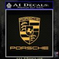 Porche Decal Sticker Full Emblem Logo Gold Vinyl 120x120