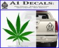 Pot Leaf Decal Sticker Green Vinyl Logo 120x97