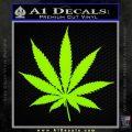 Pot Leaf Decal Sticker Lime Green Vinyl 120x120