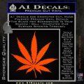 Pot Leaf Decal Sticker Orange Emblem 120x120