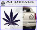 Pot Leaf Decal Sticker PurpleEmblem Logo 120x97