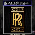 Rolls Royce Emblem Decal Sticker Gold Vinyl 120x120
