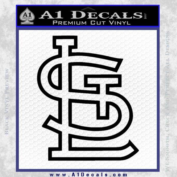 St louis stl logo decal sticker black vinyl 120x120