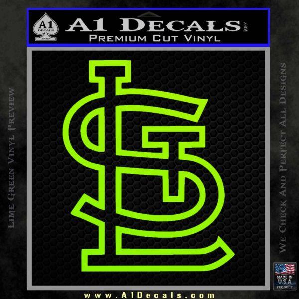 St louis stl logo decal sticker lime green vinyl 120x120