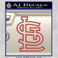 St Louis STL Logo Decal Sticker Red 120x120