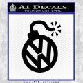 VW Bomb Decal Sticker Black Vinyl 120x120