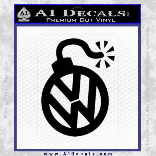 Vw bomb decal sticker black vinyl