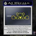 Winnie The Pooh Decal Sticker Peeking Yellow Laptop 120x120