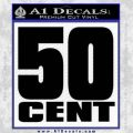 50 Cent G Unit Decal Black Vinyl 120x120