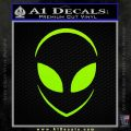 Alien Head Decal Sticker Stylized Lime Green Vinyl 120x120