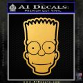 Bart Simpson Head Decal Sticker Gold Vinyl 120x120