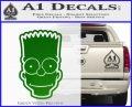 Bart Simpson Head Decal Sticker Green Vinyl Logo 120x97