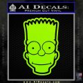 Bart Simpson Head Decal Sticker Lime Green Vinyl 120x120