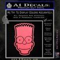Bart Simpson Head Decal Sticker Pink Emblem 120x120