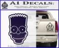 Bart Simpson Head Decal Sticker PurpleEmblem Logo 120x97