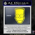 Bart Simpson Head Decal Sticker Yellow Laptop 120x120