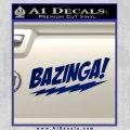 Bazinga Decal Sticker Big Bang Theory D1 Blue Vinyl 120x120