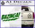 Bazinga Decal Sticker Big Bang Theory D1 Green Vinyl Logo 120x97