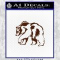 Bear Decal Sticker BROWN Vinyl 120x120