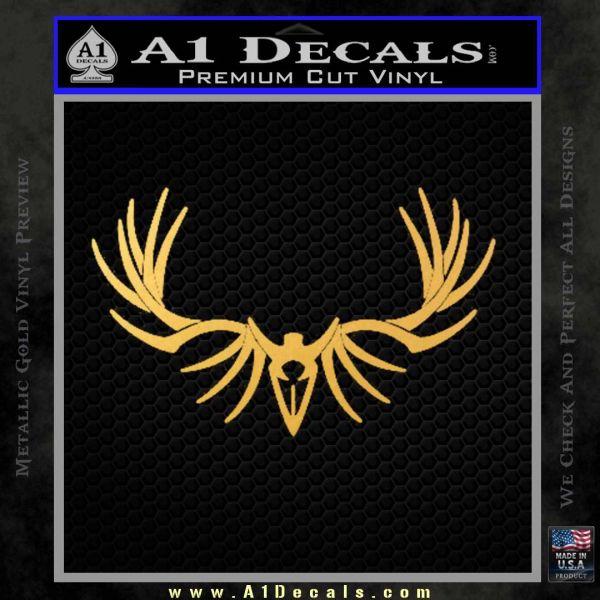 Big rack tribal elk decal sticker gold vinyl