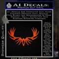 Big Rack Tribal Elk Decal Sticker Orange Emblem 120x120