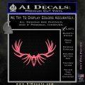 Big Rack Tribal Elk Decal Sticker Pink Emblem 120x120