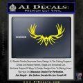 Big Rack Tribal Elk Decal Sticker Yellow Laptop 120x120