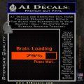 Brain Loading Decal Sticker Orange Emblem 120x120