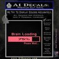 Brain Loading Decal Sticker Pink Emblem 120x120